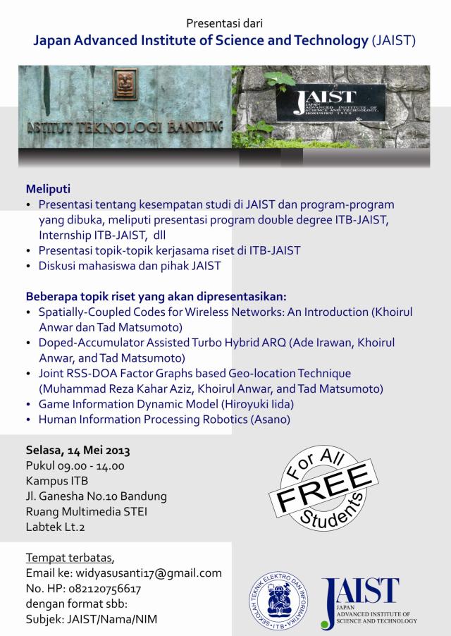 Presentasi di ITB 14 Mei 2013